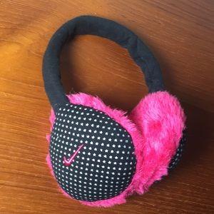 Nike Ear Muffs Winter Pink Black Adjustable